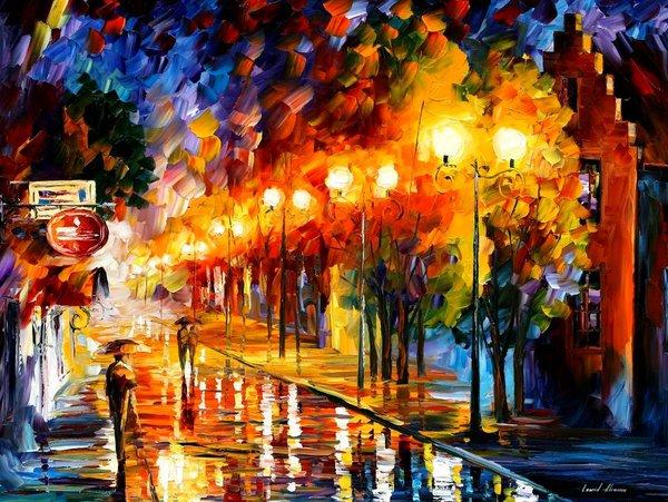 Leonid afremov oil paintings