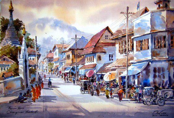 street-watercolor