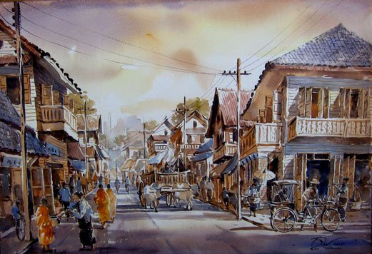 street-market-watercolor-painting