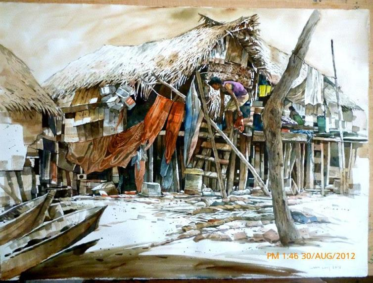 Banting Malaysia  City new picture : Watercolor Paintings by Malaysian Artist Yong Look Lam
