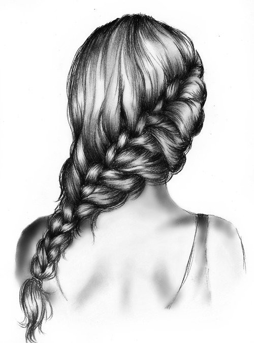 Hairstyles For Long Hair Drawing : Amazing Pencil Drawings of Hair - Fine Art Blogger