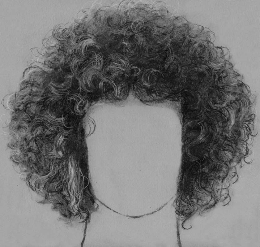 Drawing Black Curly Hair - Short Curly Hair