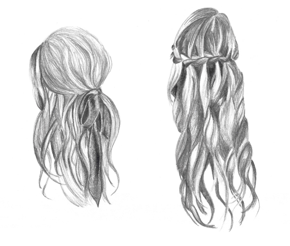 Hairstyles For Long Hair Drawing : how-to-draw-hair