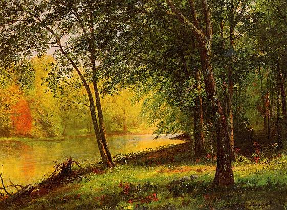 green-forest-painting-hudson Famous Forest Paintings