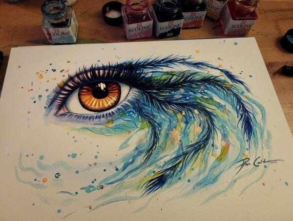 Как сделать как будто красками