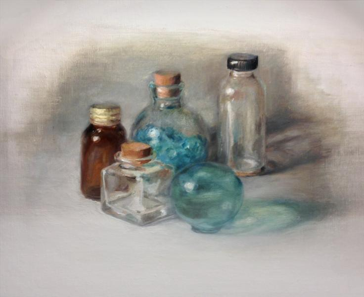 oil-painting-glass-bottles
