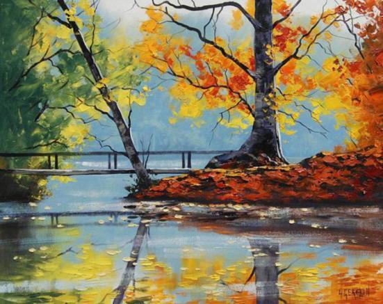 Australian landscape oil paintings by graham gercken for Australian mural artists