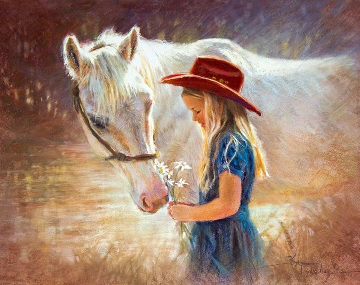 Картинки девочка и лошадь