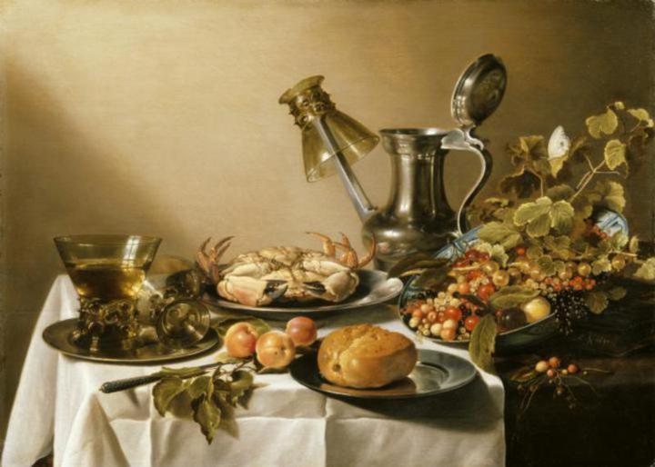 Famous Still Life Paintings By Dutch Artist Pieter Claesz